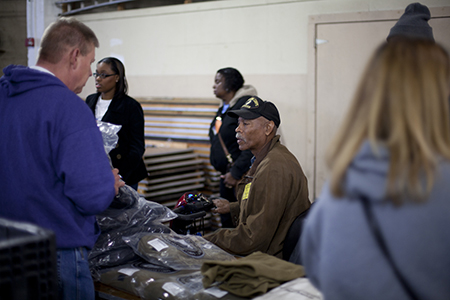 Veteran receives services at KC Stand Down
